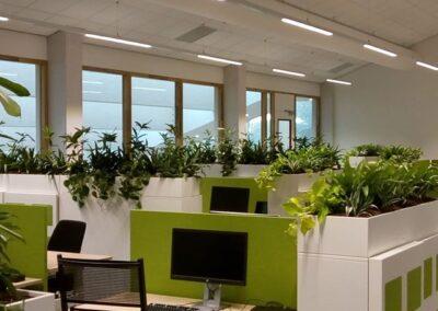 1,5meter afscheiding plantenbakken kantoortuin
