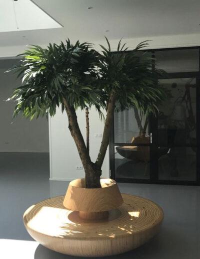 kunstbeplanting ronde zitbank