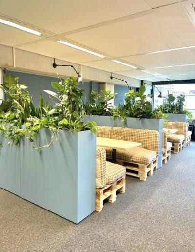 Maatwerk plantenbakken met mixbeplanting